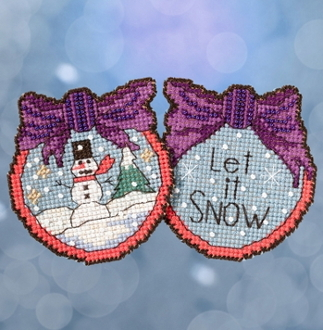 Mill Hill Sticks Let It Snow Man Christmas counted cross stitch ornament kit