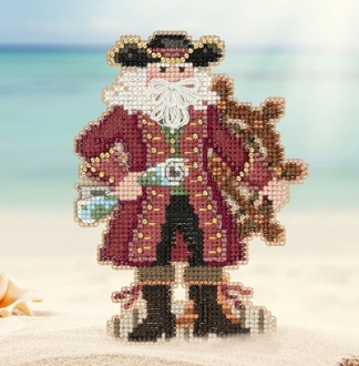 Mill Hill Caribbean Jamaica Santa MH20-1731 Christmas Ornament beaded counted cross stitch kit