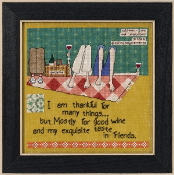 Mill Hill Curly Girl Design - Taste In Friends beaded counted cross stitch kit