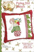 Crabapple Hill Studio Polka Dot Mitten Christmas hand embroidery pattern