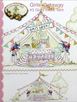 Crabapple Hill Studio Girls Week Tent hand embroidery pattern