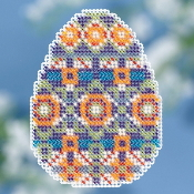 Mill Hill Spring Bouquet Collection Mosaic Egg Easter beaded counted cross stitch ornament kit