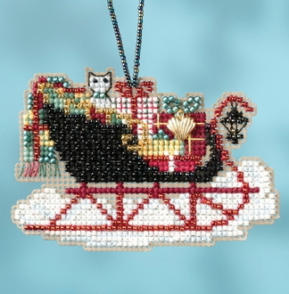Mill Hill Sleigh Ride Charmed Ornaments Vintage Sleigh MH16-1732 Christmas Ornament counted cross stitch kit