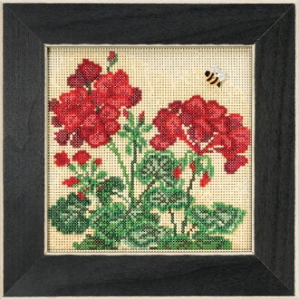 Mill Hill Spring Series Geranium beaded counted cross stitch kit