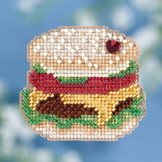 Mill Hill Spring Bouquet collection Hamburger counted cross stitch ornament kit