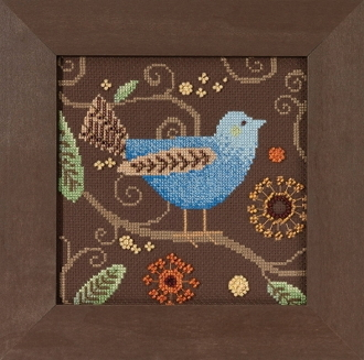 Mill Hill Out on a Limb Blue Bird beaded counted cross stitch kit