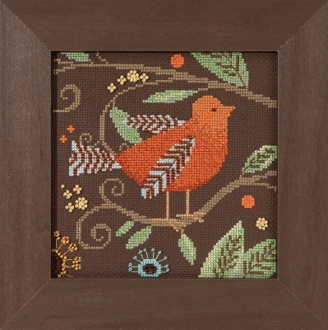 Mill Hill Out on a Limb Orange Bird beaded counted cross stitch kit