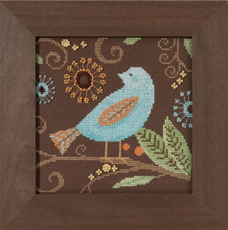 Mill Hill Out on a Limb Aqua Bird beaded counted cross stitch kit