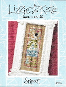 Lizzie Kate Snippet Snowman S94 Counted cross stitch pattern, chart with buttons, beads