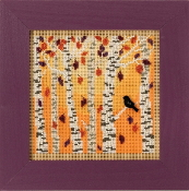 Mill Hill Autumn Series Autumn Woods beaded counted cross stitch kit