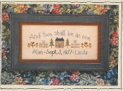 Lizzie Kate Two Shall Be As One Counted cross stitch pattern chart