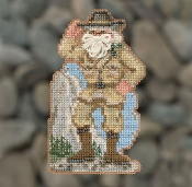 Mill Hill Yosemite Santa MH20-1833 Christmas Ornament beaded counted cross stitch kit