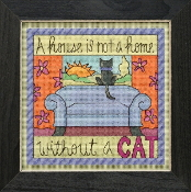Mill Hill Sticks Without a Cat beaded counted cross stitch kit