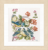 Lanarte Chickadees counted cross stitch picture kit