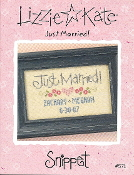 Lizzie Kate Snippet Just Married S71 Counted cross stitch pattern, chart