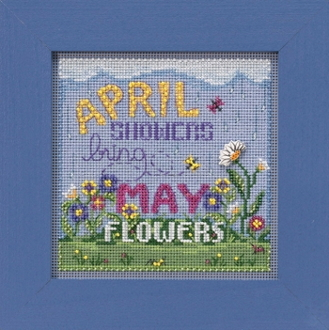 Mill Hill Spring Series April Showers beaded counted cross stitch kit