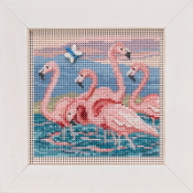 Mill Hill Spring Series Flamingos beaded counted cross stitch kit