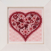 Mill Hill Spring Series Valentine Heart beaded counted cross stitch kit