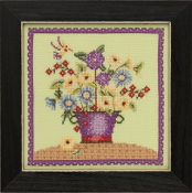 Mill Hill Blooms and Blossoms Floral Bouquet beaded counted cross stitch kit