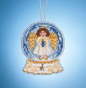 Mill Hill Angel Globe MH16-1935 Ornament counted cross stitch kit with Charm