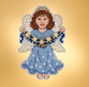 Mill Hill Winter Holiday collection Celestial Angel MH18-1936 Ornament counted cross stitch kit with treasure