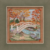 Mill Hill Autumn Series Foot Bridge beaded counted cross stitch kit