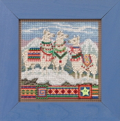 Mill Hill Fa, La, La Llamas Counted cross stitch kit