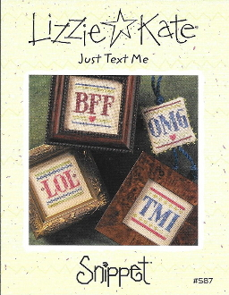 Lizzie Kate Snippet S87 - Just Text Me counted cross stitch pattern