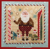 Heart In Hand Wee Santa 2019 Counted cross stitch pattern, chart