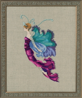 Mirabilia Designs Red Cabbage Sprite NC255 design by Nora Corbett counted cross stitch pattern