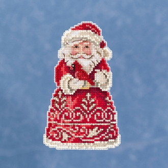 Jim Shore by Mill Hill - Santa with Cardinal JS20-1913 Christmas Ornament beaded counted cross stitch kit