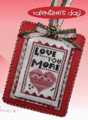 Heart In Hand Merry Making Mini Love You More Counted cross stitch pattern, chart