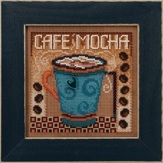 Mill Hill Autumn Series Cafe Mocha beaded counted cross stitch kit