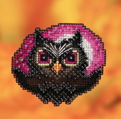 Mill Hill Autumn Harvest collection Moonlit Owl counted cross stitch ornament kit