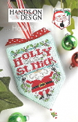 Hands on Design Holly St Nick Christmas counted cross stitch pattern