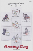 Yesterday's Charm Scotty Dog iron-on embroidery transfers, designs, patterns