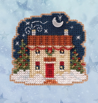 Mill Hill Winter Holiday collection Christmas Eve MH18-2031 Ornament counted cross stitch kit