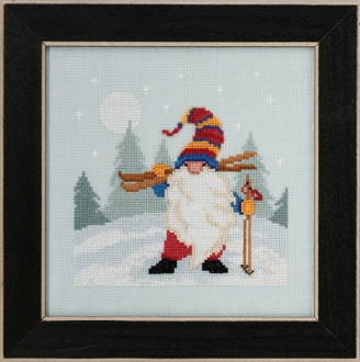Mill Hill - Skiing Gnome MH17-2011 beaded counted cross stitch kit