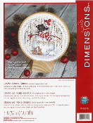 Dimensions Joyful Snow Globe counted cross stitch picture kit