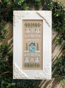 Country Cottage Needleworks January Sampler Counted cross stitch pattern chart