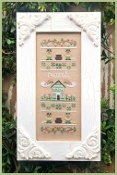 Country Cottage Needleworks March Sampler Counted cross stitch pattern chart