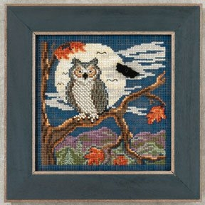 Mill Hill Buttons Beads Autumn Series Night Owl counted cross stitch kit