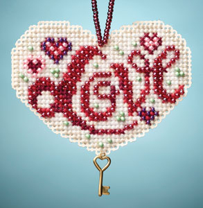 Mill Hill Charmed Ornaments - Love beaded counted cross stitch kit